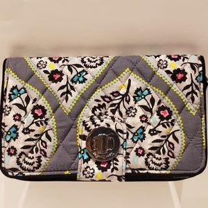 Vera Bradley Rfid Turnlock Wallet Rumba Wallet